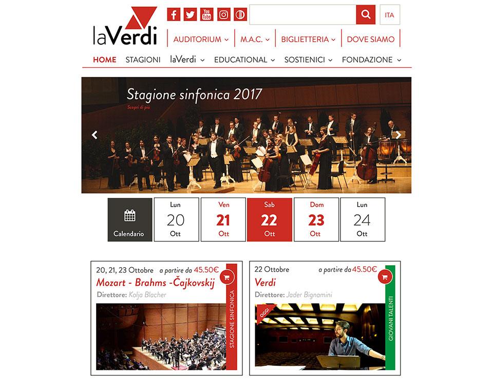 Esempio layout sito laVerdi
