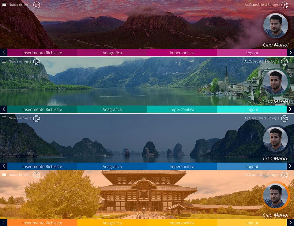 Esempio di palette colori per un portale web